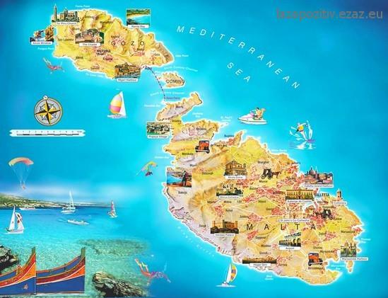 málta térkép Málta, a Földközi tenger gyöngyszeme   Laza + Pozitív málta térkép